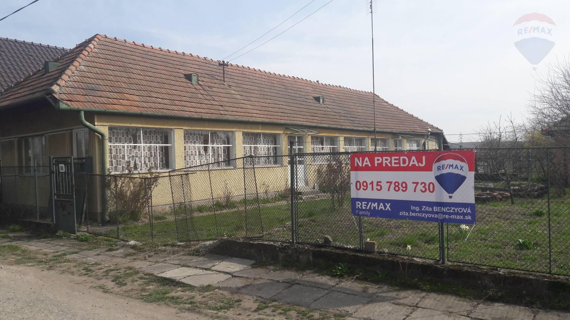 predaj rodinný dom Žitavce