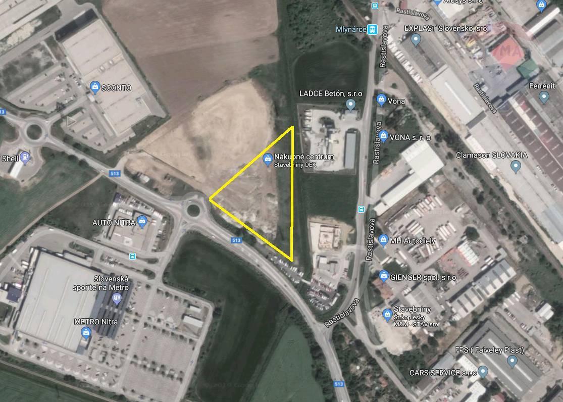 predaj pozemok na komerčnú výstavbu Nitra