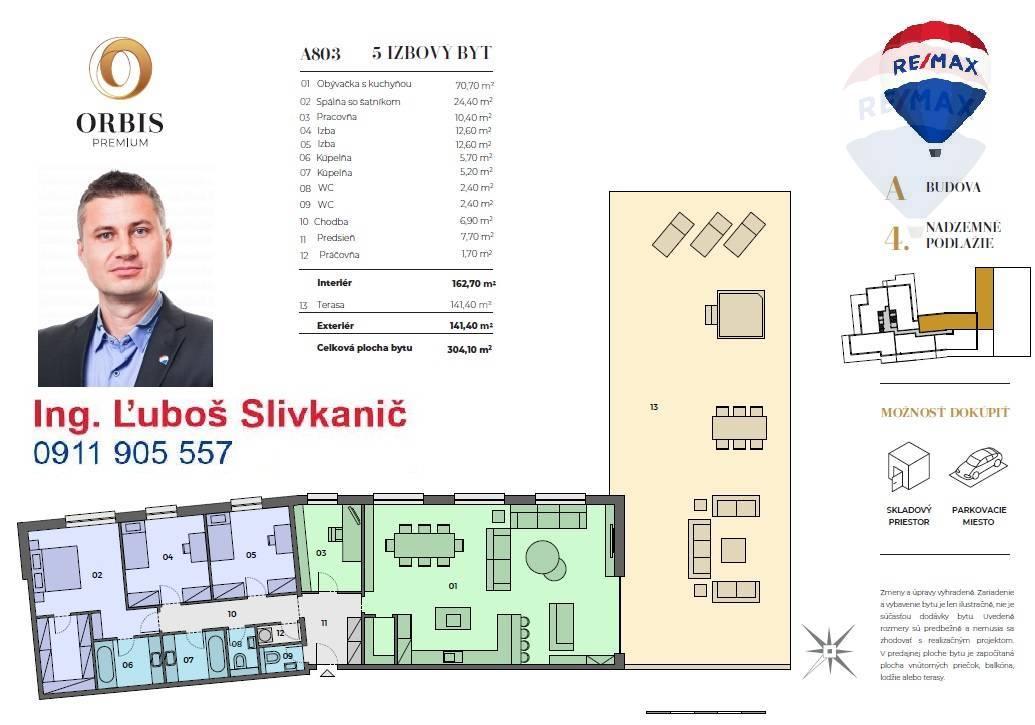 predaj 5 a viac izbový byt Nitra, Štefánikova trieda
